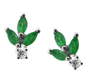 Zümrüt Küpe - Emerald Earrings