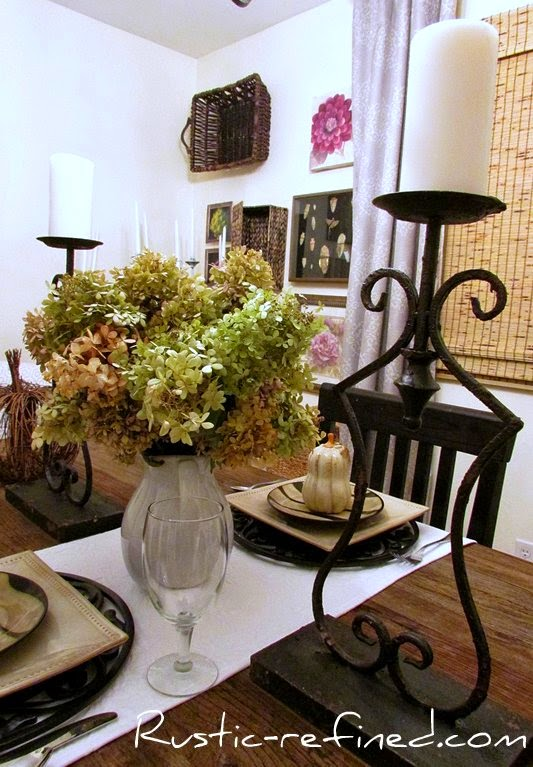 Brown and Animal print dishes for a rustic fall tablescape
