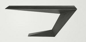 Furtif desk in veneered grey oak finish, by Roche Bobois