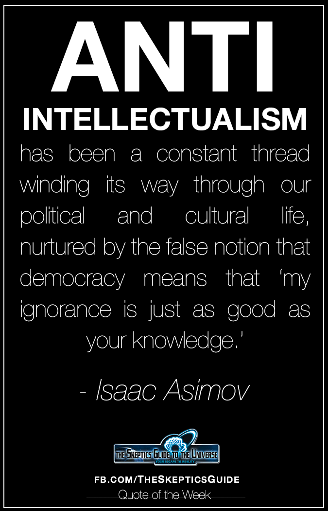 Anti Intellectualism