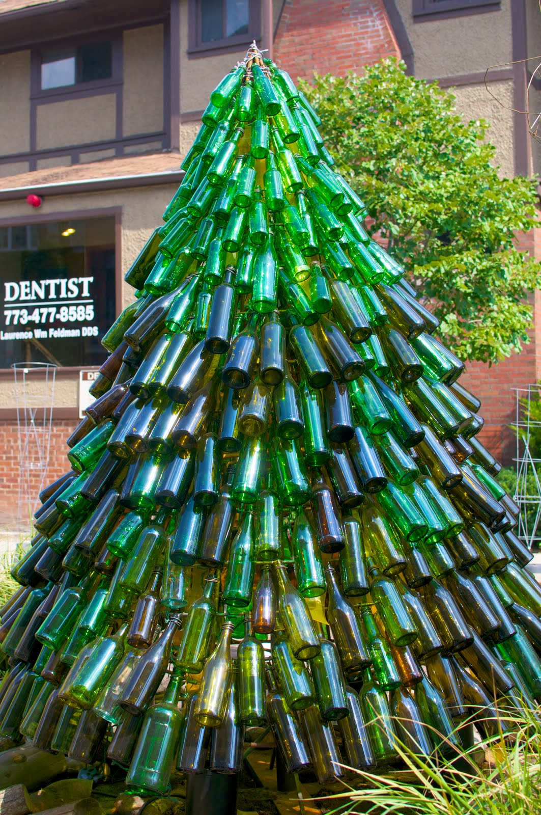 Daily chicago photo september 2011 for How to make a beer bottle christmas tree