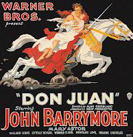 Don Juan, de Alan Crosland, com John Barrymore, primeiro filme com reprodução simultânea de imagens e som