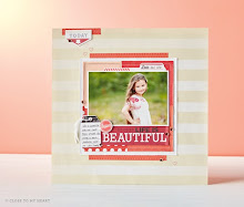 July  Stamp of the Month Scrapbook Page