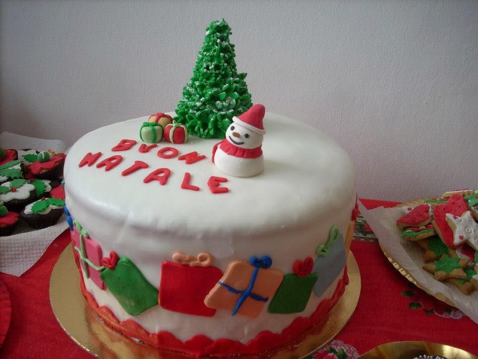 Setteveli 39 S Blog Torta Di Natale Decorata Con Pasta Di