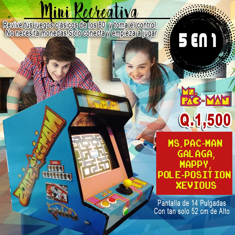 Mini-recreativa tipo arcade, 5 en 1