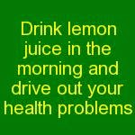 lemon juice - health benefits