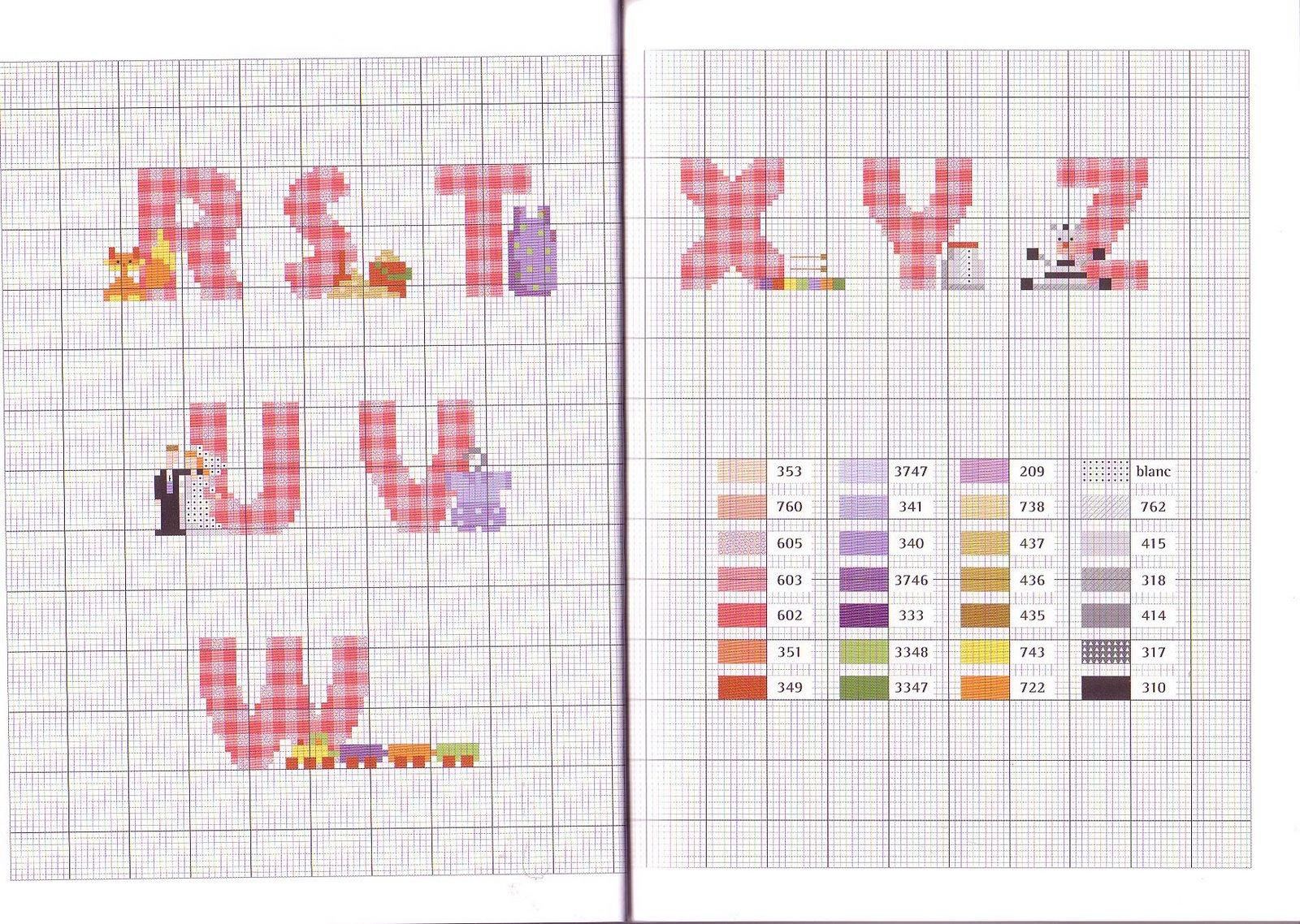 Cross stitch baby alfabeti a punto croce per bambini for Alfabeti a punto croce per bambini