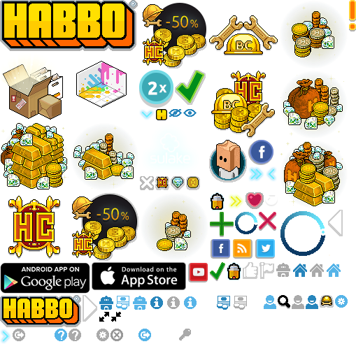 Conjunto de Imagens do Habbo Hotel