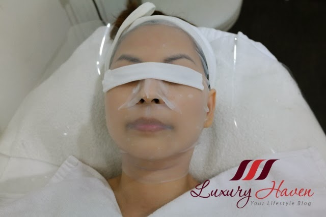 luxury haven reviews eha collagen mask facial treatment