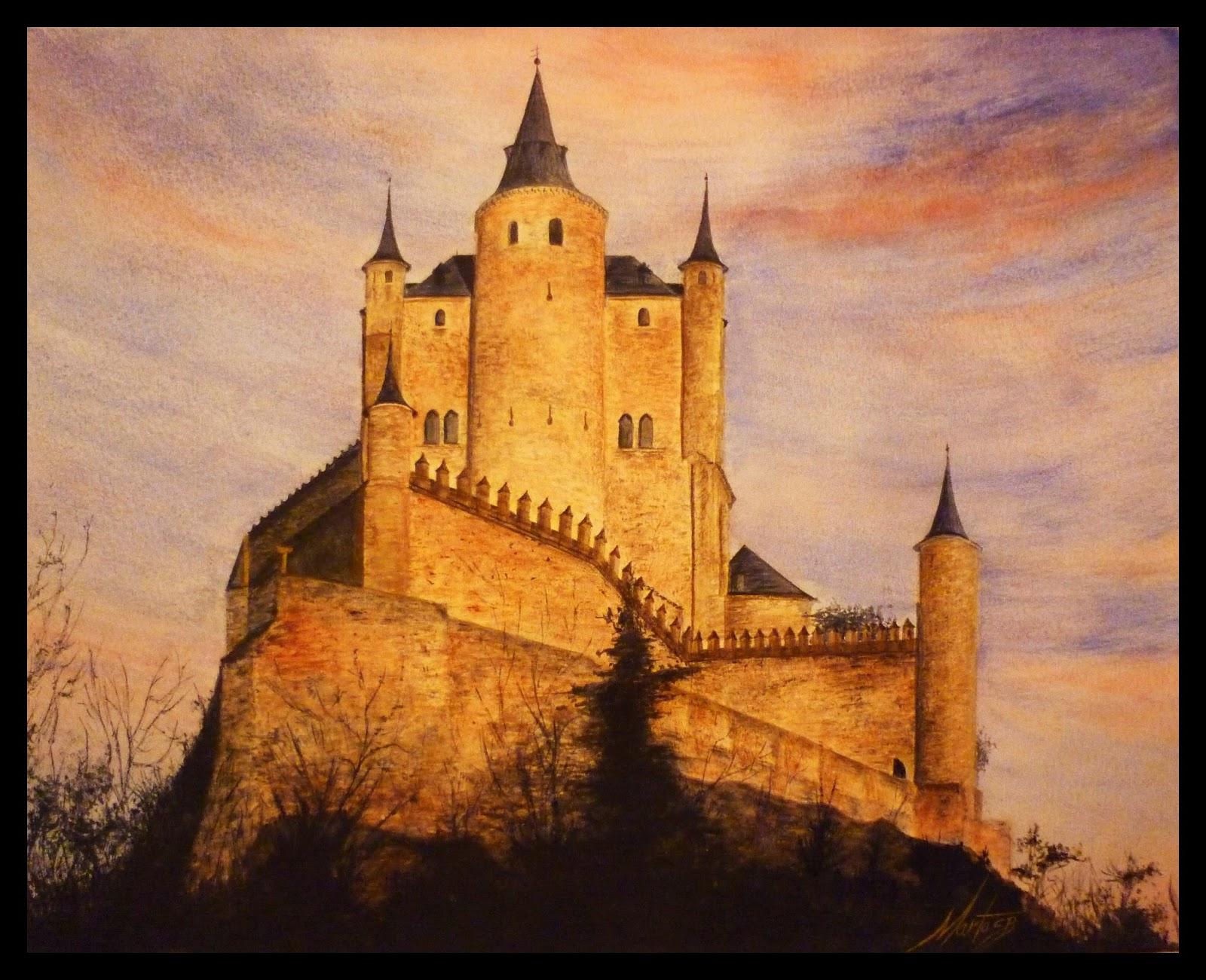 Alcázar de Segovia es un cuadro pintado por MartaSb con pinturas acuarela
