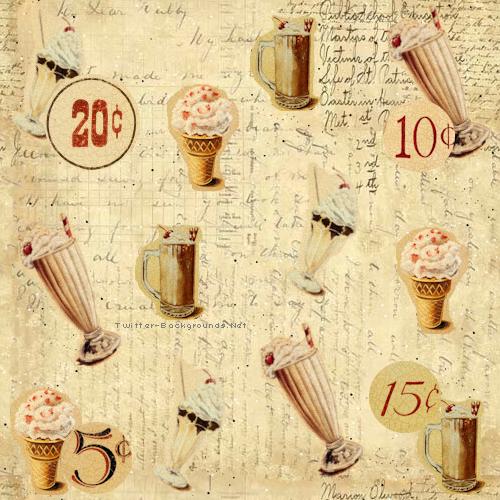 vintage ice cream wallpaper - photo #3