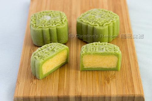 Green Tea (Matcha) Custard Snowskin Mooncakes | Christine's Recipes ...
