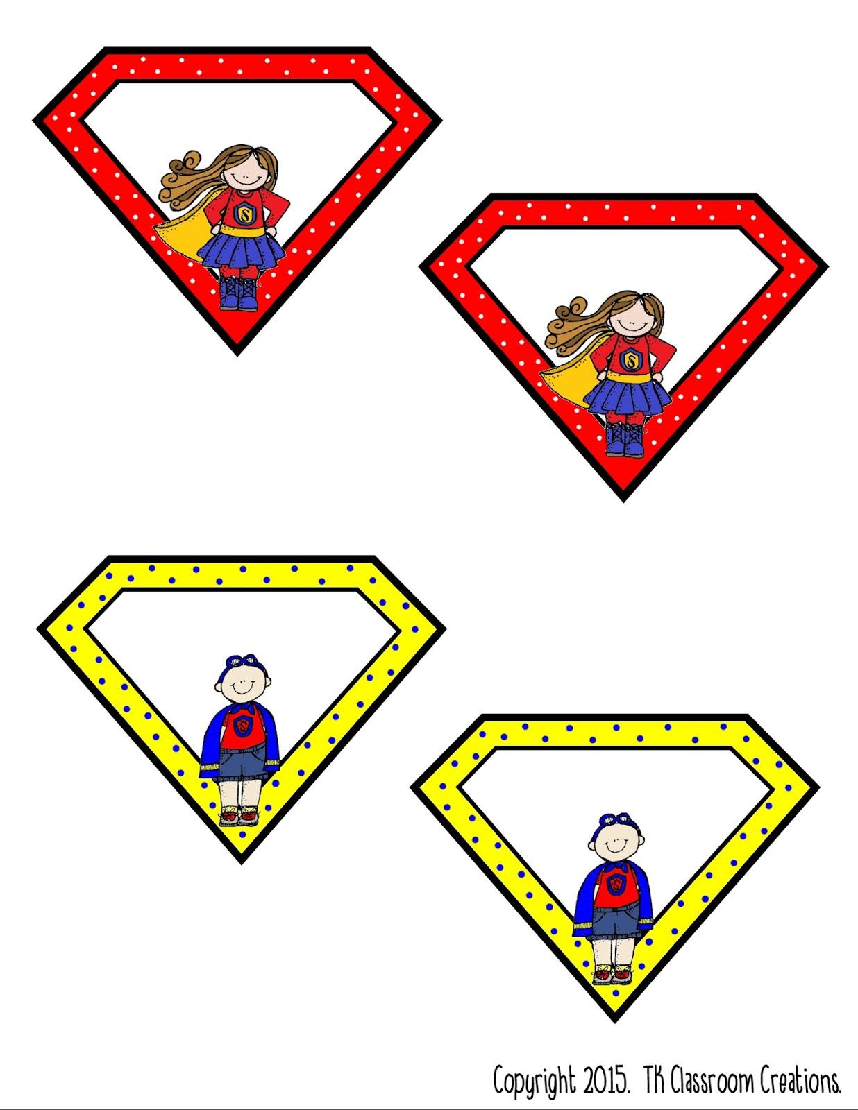 Superhero Classroom Decor Printables : Tk classroom creations
