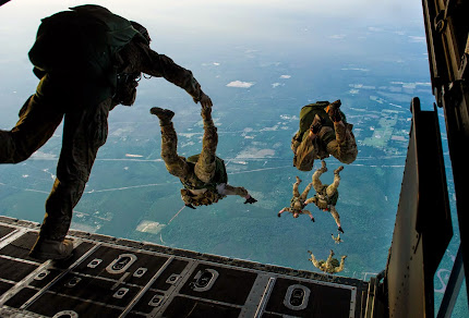 22ND SPECIAL TACTICS SQUADRON JUMP DURING EMERALD WARRIOR 2014