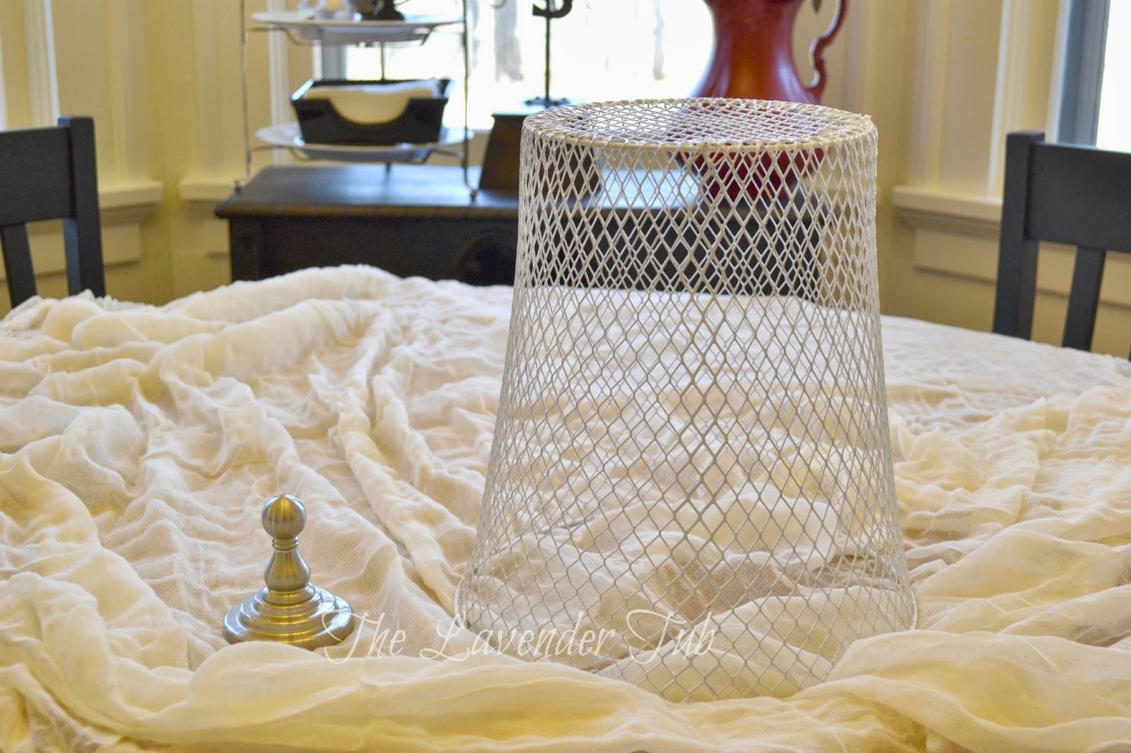 Wire Waste Basket the lavender tub: fast, fun, & fabulous - wire cloche
