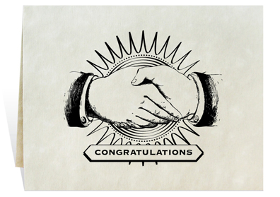 Congratulations card art