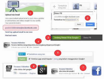 How To Update Facebook Status from Google+