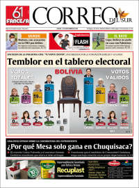 18/09/2020      BOLIVIA UNA  PRIMERA PÁGINA DE LA PRENSA