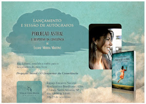 """Dia de Autógrafos com Liliane Moura Martins. Livro """"Projeção Astral - O Despertar da Consciência"""