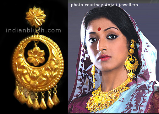 traditional gold ear top design