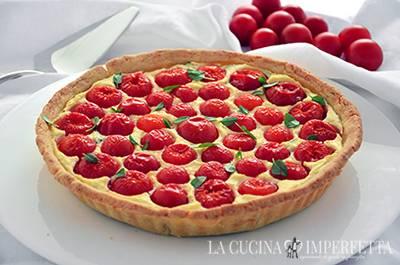Torta salata ricotta e pomodorini