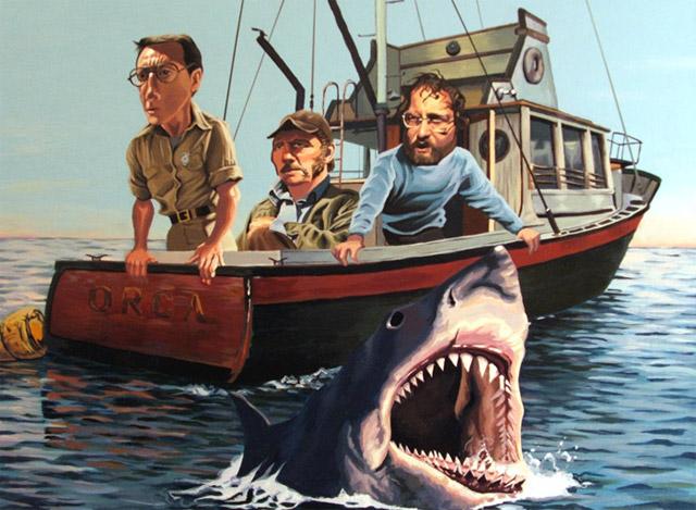 filmes cartunizados justin Reed jaws tubarão