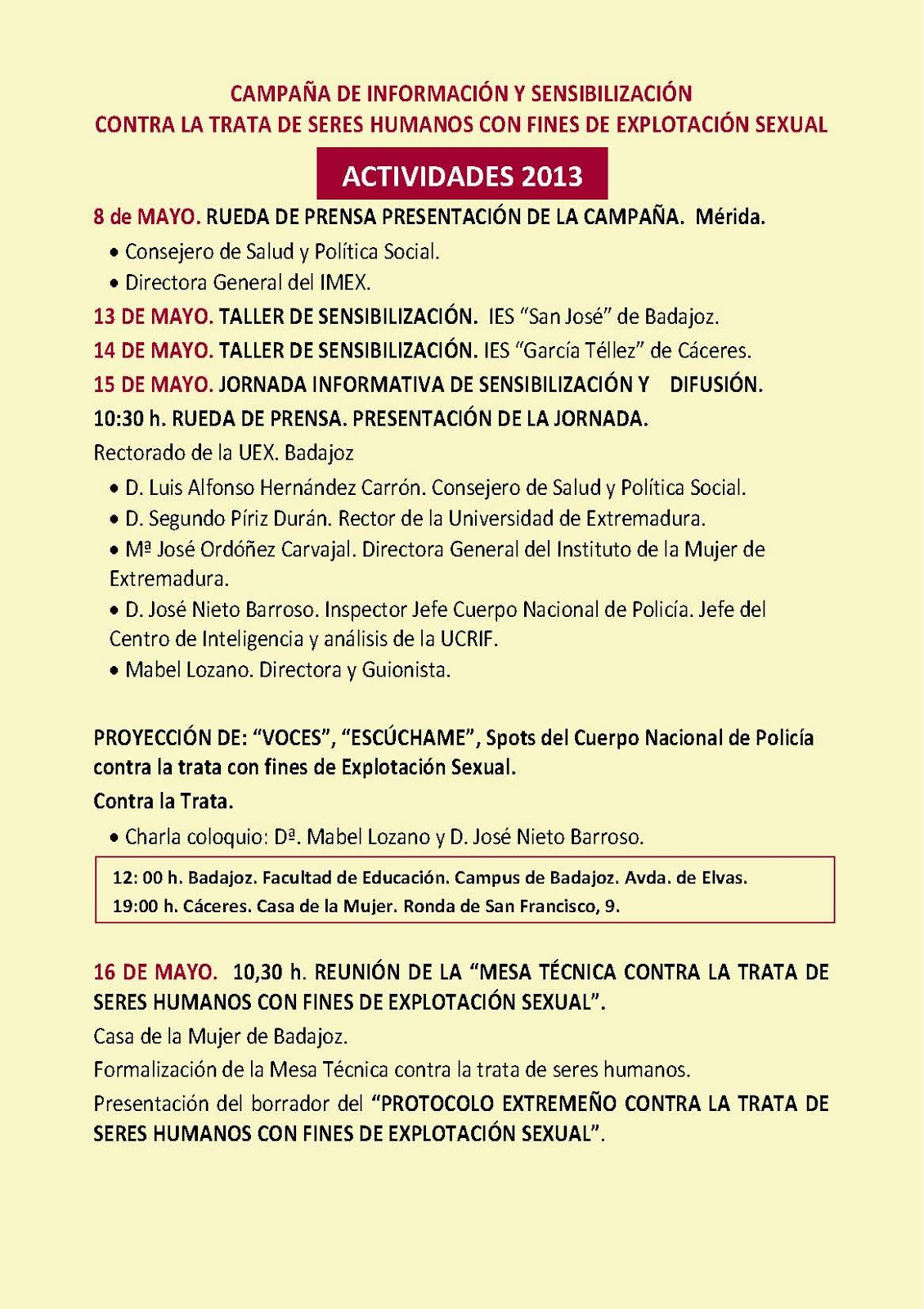 Oficina de Igualdad y de Violencia de Genero: CAMPAÑA DE INFORMACIÓN ...