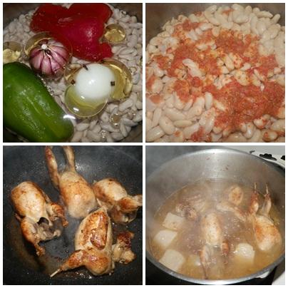 Aprendiendo a cocinar cosillas de guancheloco jud as - Alubias con codornices ...