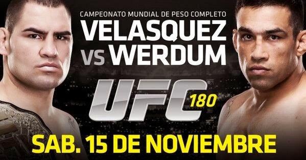 Boletos para Velazquez contra Werdum en Mexico DF 2014