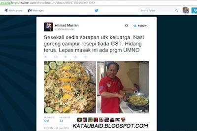 Twitter Dato' Ahmad Maslan di serang  !
