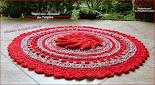 Tapete Flor Vermelha