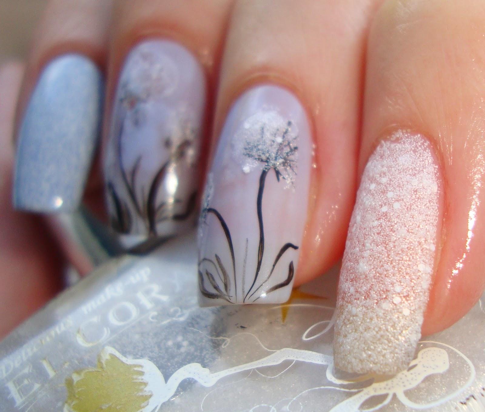 Дизайн ногтей фото одуванчика
