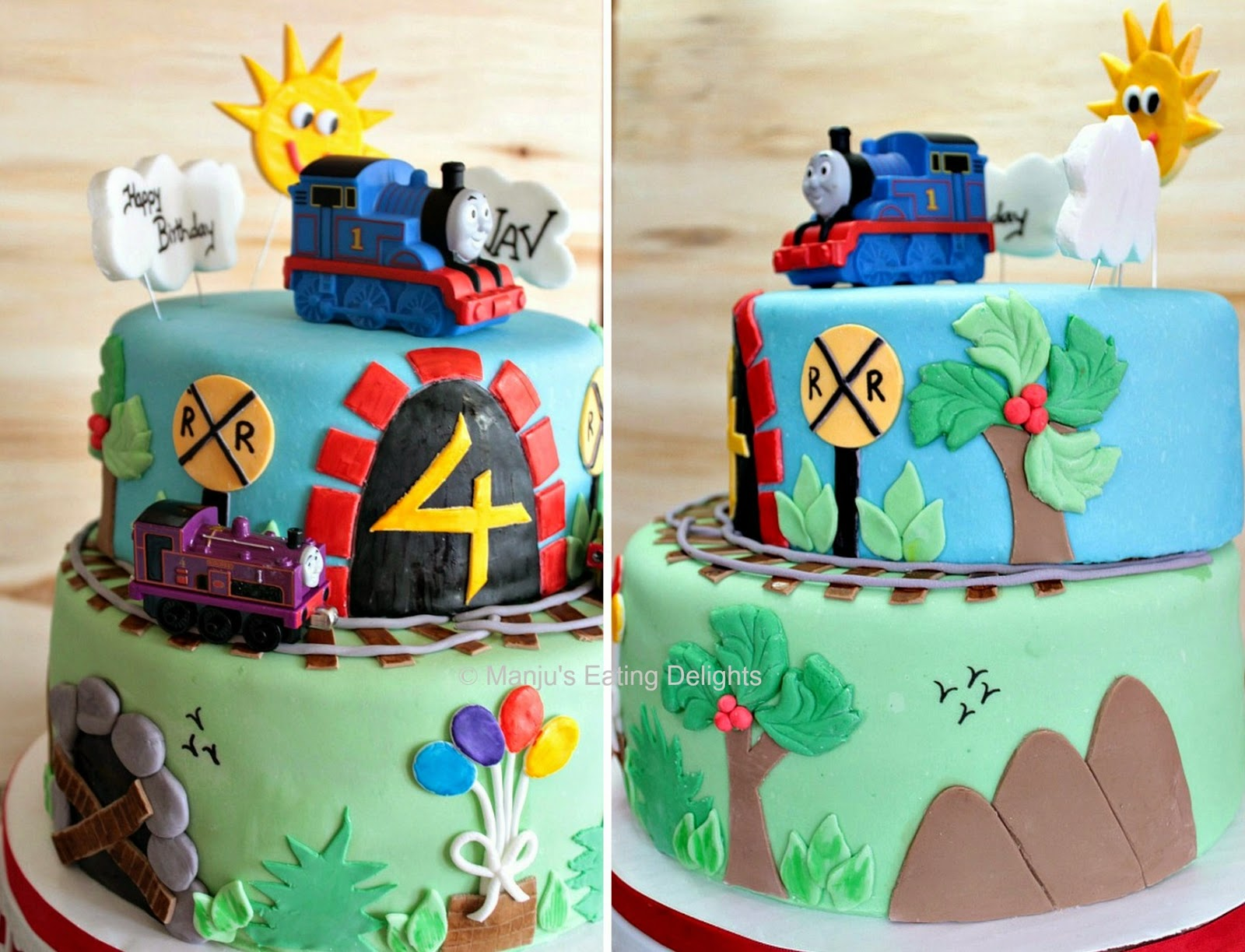 Manju s Eating Delights Thomas the train and Friends Cake for a
