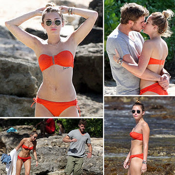 Miley Cyrus reveals her bikini body in Hawaii