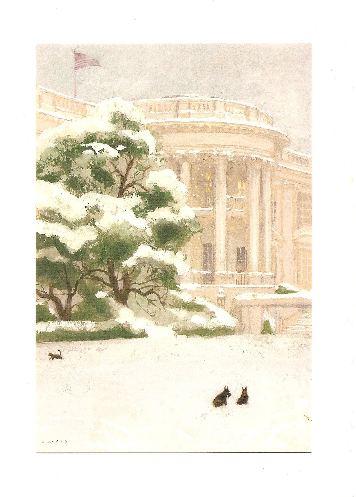 Mostly Paper Dolls Too!: White House Christmas Card 2005