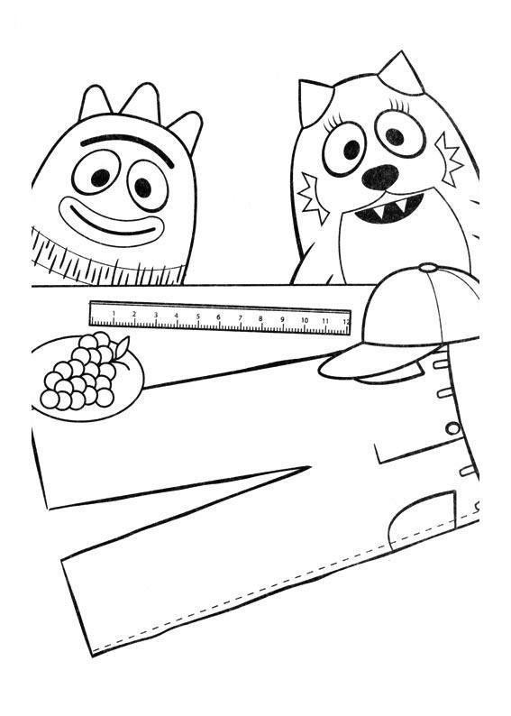 Dibujos y Plantillas para imprimir: YO GABBA GABBA