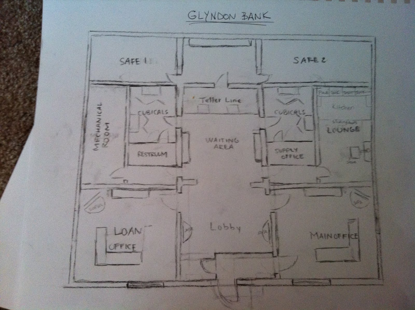 Banks floor plans for Bank designs architecture