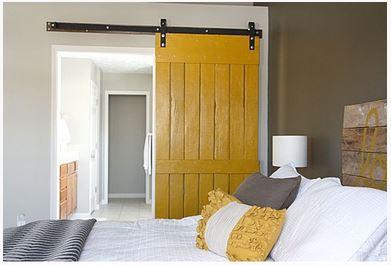 yellow barn style door