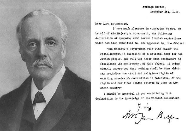 Rothschild Hanedanlığı, Filistin ve Yeni Dünya Düzeni deklarasyon