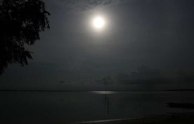 Son las nueve, es de noche.... y buscando un conejo en la luna