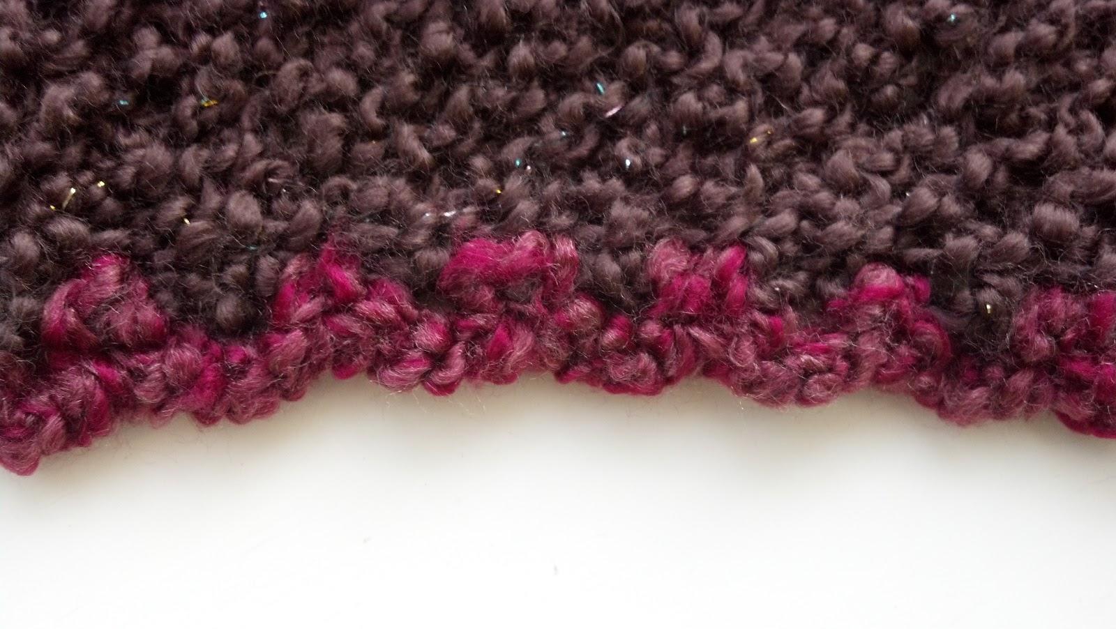 Triangle Shawl Using Boucle Yarn | Knit A Bit Crochet Away