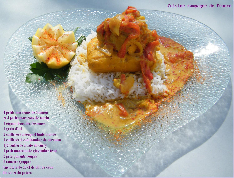 Cuisine et campagne de france duo de merlu et saumon au - Cuisiner poisson congele ...