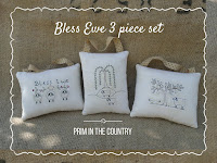 Bless Ewe Pattern 3 Piece Set $4.00
