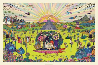 "The Beatles ""Pepperland"" Standard Edition Screen Print by Marq Spusta"