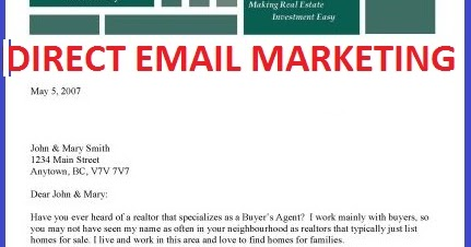 email marketing blog direct mail examples – Email Marketing Sample