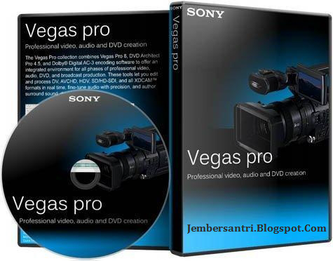 Sony Vegas Pro 13 Build 444 x64 Full Patch Version Cover Logo http://jembersantri.blogspot.com