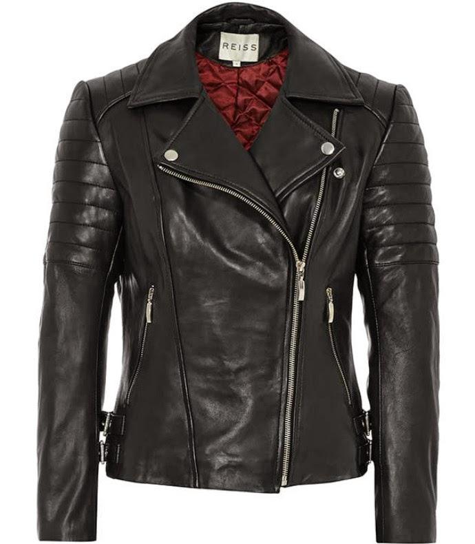 black Reiss leather jacket