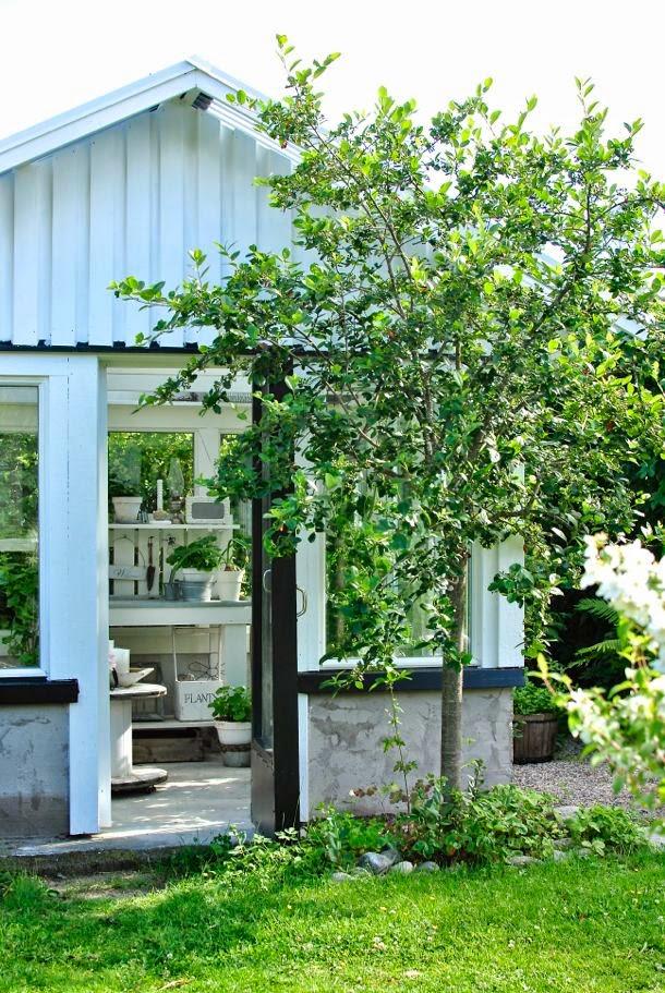 hannas växthus planteringsbord trädgård