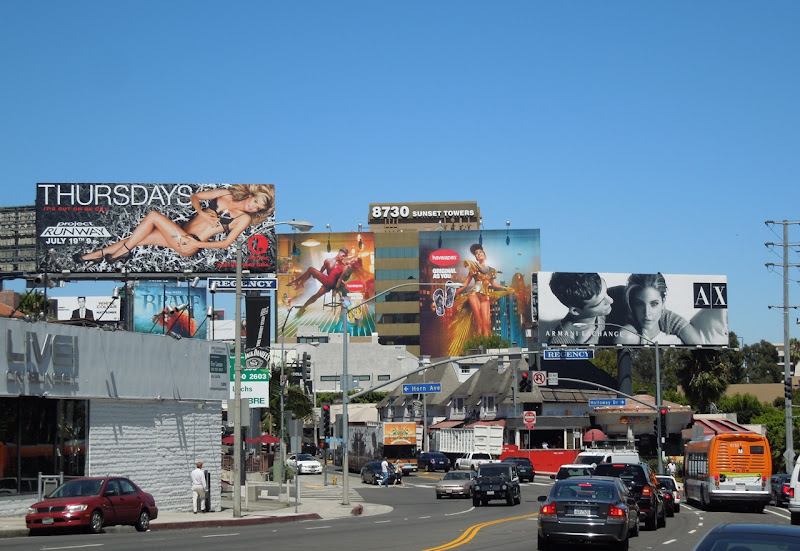 Sunset Strip June 2012 billboards