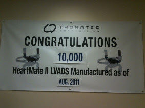 10,000 HEARTMATE II MANUFACTURED AS OF AUG.2011